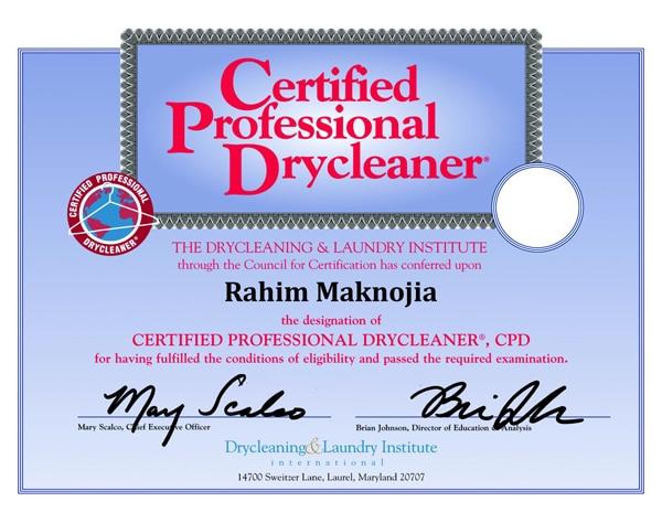 certification oaks cleaner